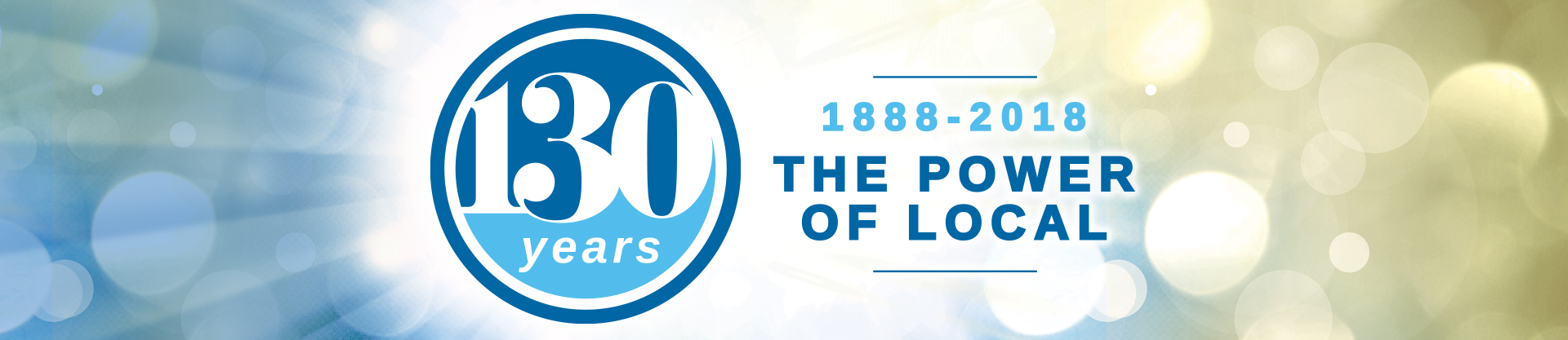 Citizens National Bank celebrating 130 years of the Power of Local. 1888 through 2018
